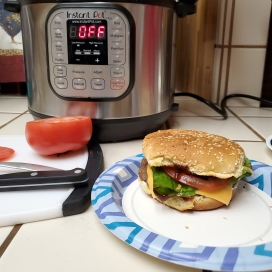 Instant Pot Burger from Frozen!